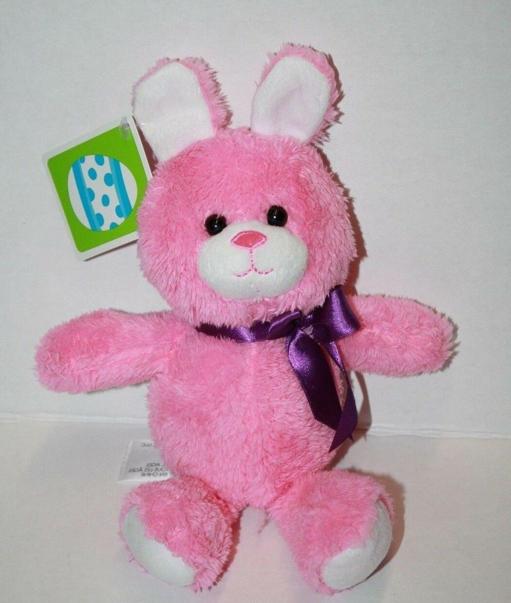 bright pink bunny rabbit plush