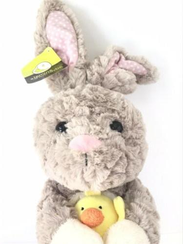 Animal Brown and Pink Bunny Yellow Large