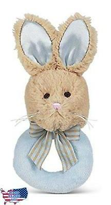 bunny tail plush ring rattle