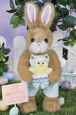 """Bearington Collection 14"""" Petey & Peeps Spring or Easter Bun"""