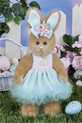 """Bearington Collection 10"""" Prissy Peeps Spring or Easter Bunn"""