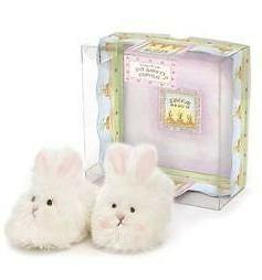 cuddle toe soft bunny rabbit baby slippers