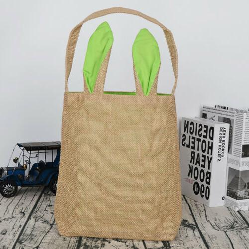Easter Bag Egg Burlap Rabbit kid