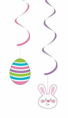 Easter Bunny and Eggs Dizzy Danglers, 5pk