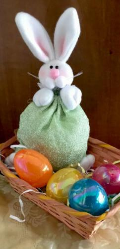 Easter Bunny Gift Bag Rabbit Treat Basket Candy Goody Tote S