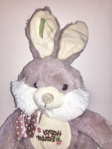 Easter Gray Rabbit Toy- Super Soft