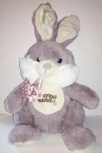 easter bunny gray plush rabbit 18 stuffed