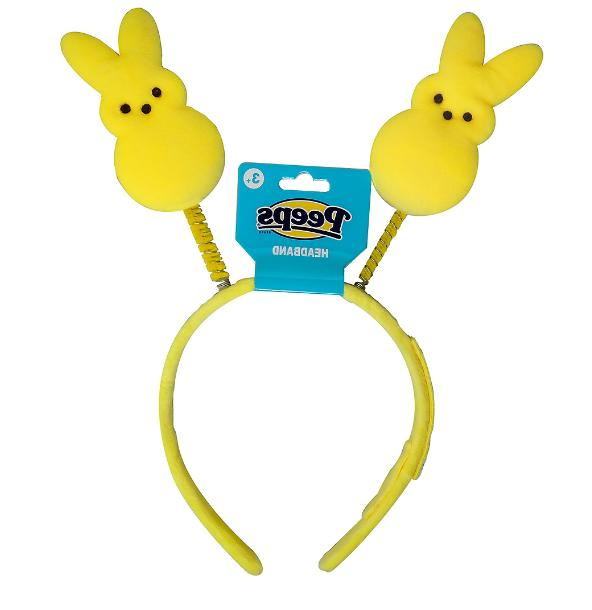 easter bunny headband plush yellow bunny new