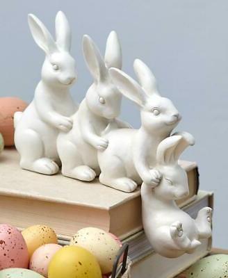easter bunny helping hands shelf sitter statue