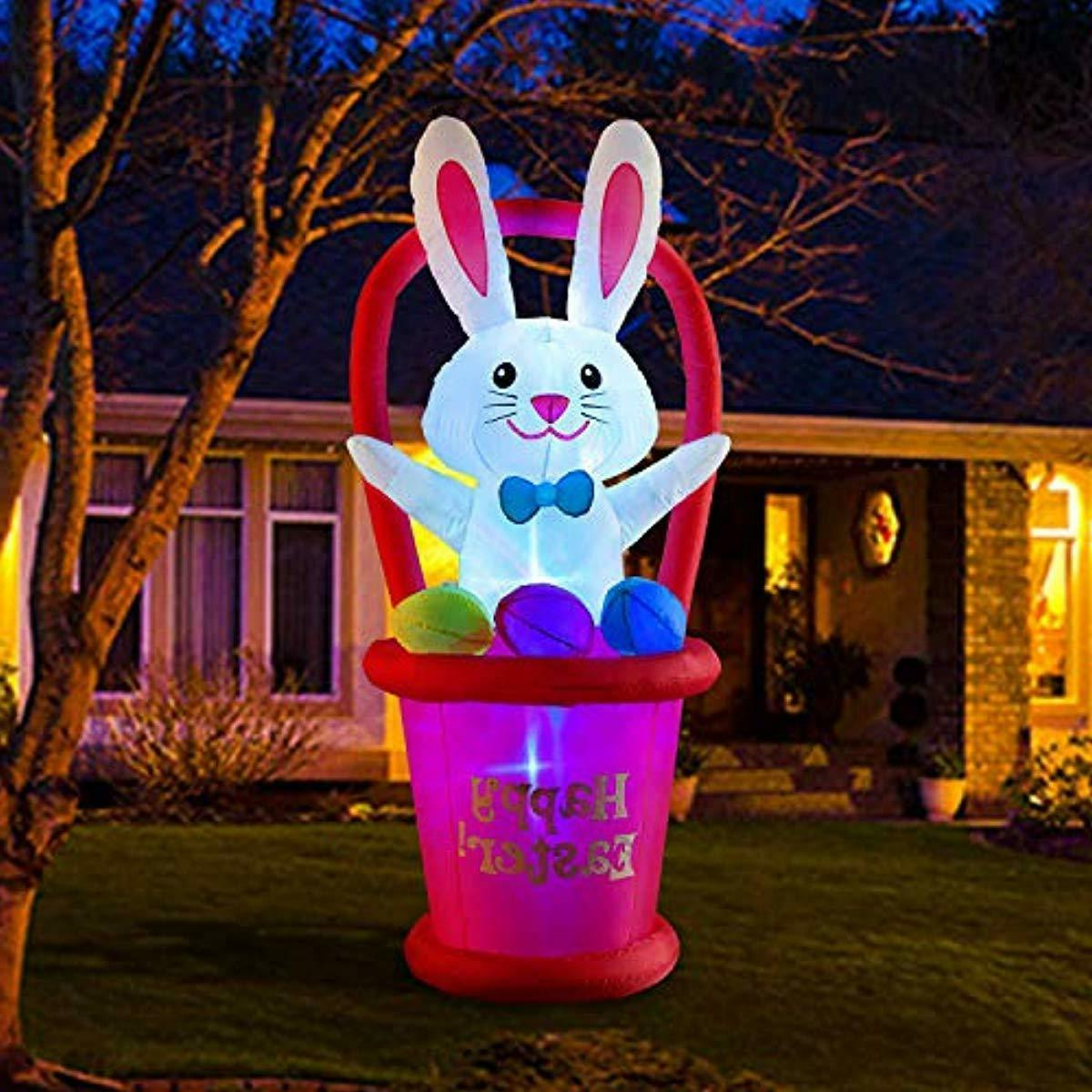 easter bunny inflatable airblown lawn decoration blow