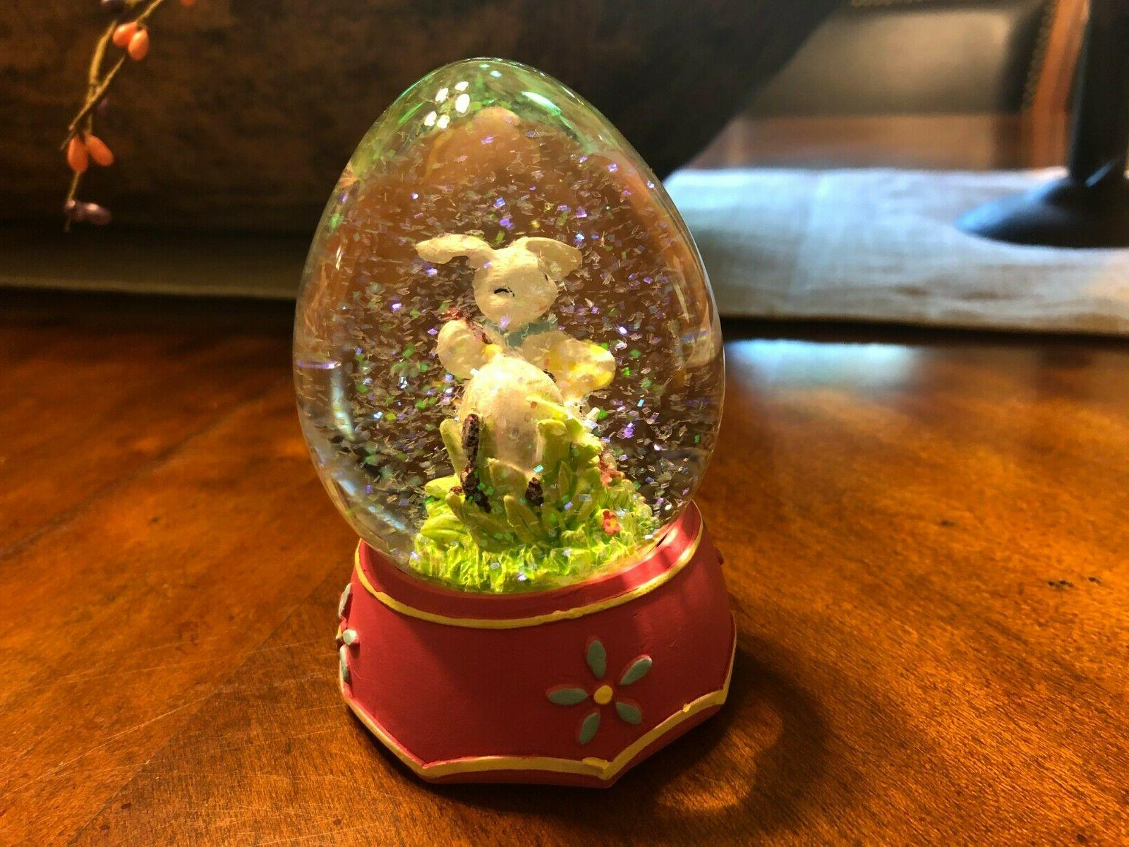 Egg Spring Snow Globe Decor New