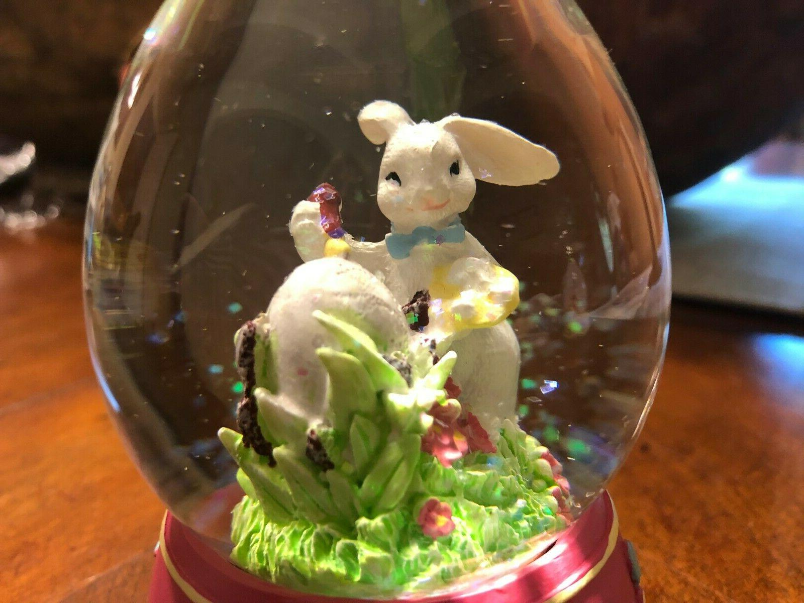 Easter Bunny Painting Egg Snow Easter Spring Globe New