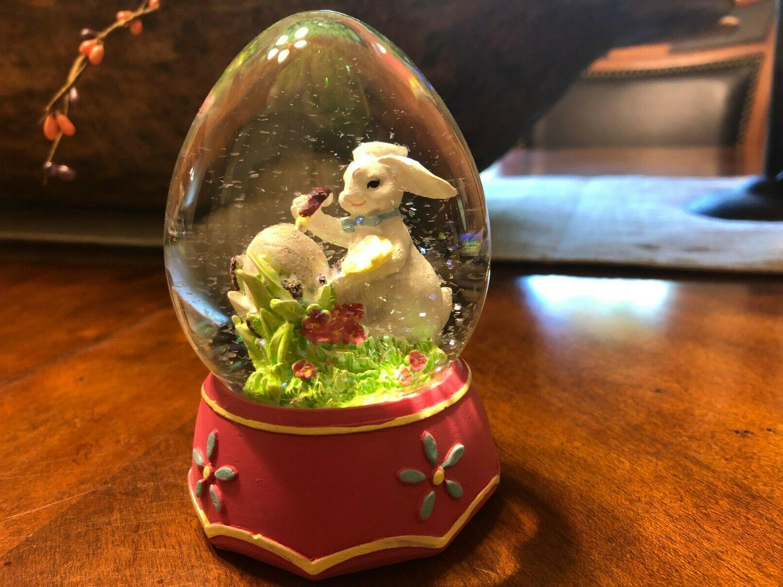 Easter Bunny Egg Snow Spring Globe New