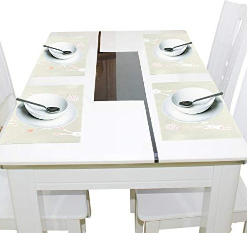 ALAZA for Dining Table of 6 Heat Washable Mats