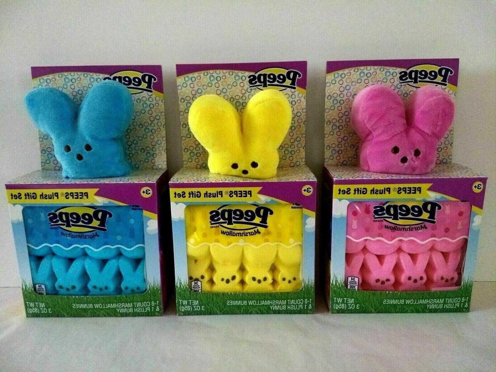 easter bunny plush gift set with edible