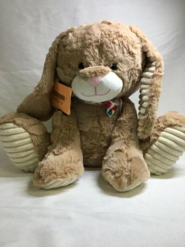 easter bunny plush rabbit tan stuffed animal