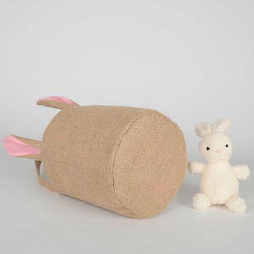 Easter Gift Jute Burlap Rabbit Gift Bag
