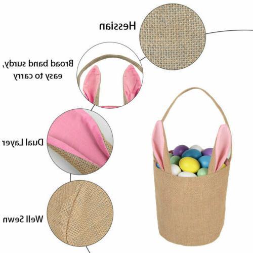 Easter Rabbit Gift Bag Jute Rabbit Bag STOCK