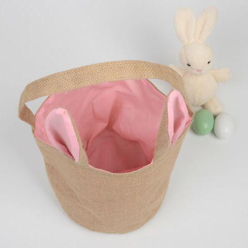 Easter Rabbit Gift Jute Burlap Gift Bag
