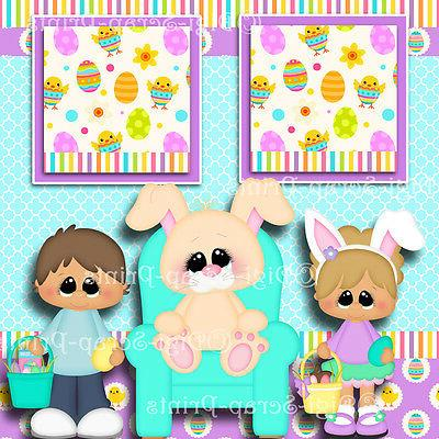 EASTER 2 pages paper piecing layout DIGISCRAP