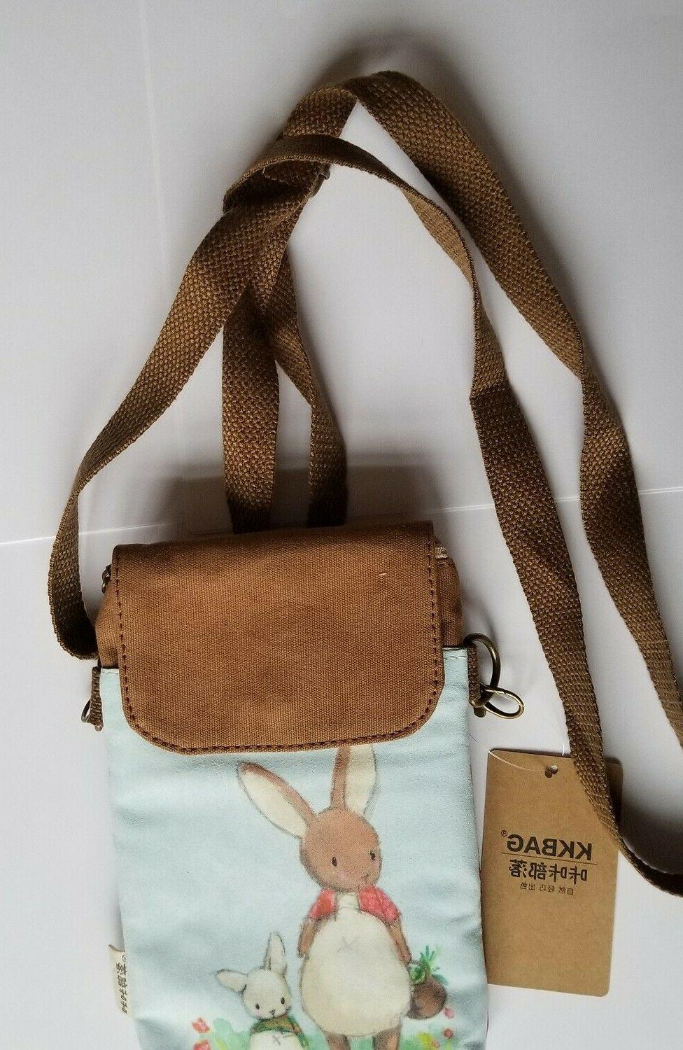 *Easter Bunny* Small Crossbody/Wrist Bag Cell Pouch Wallet