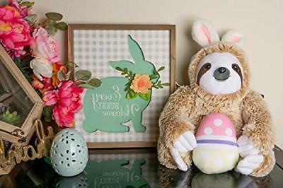 Easter Bunny Stuffed Animal Fluffy Easter Sloth Easter