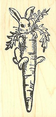 Easter Bunny with Wood Mounted Rubber Stamp NORTHWOODS
