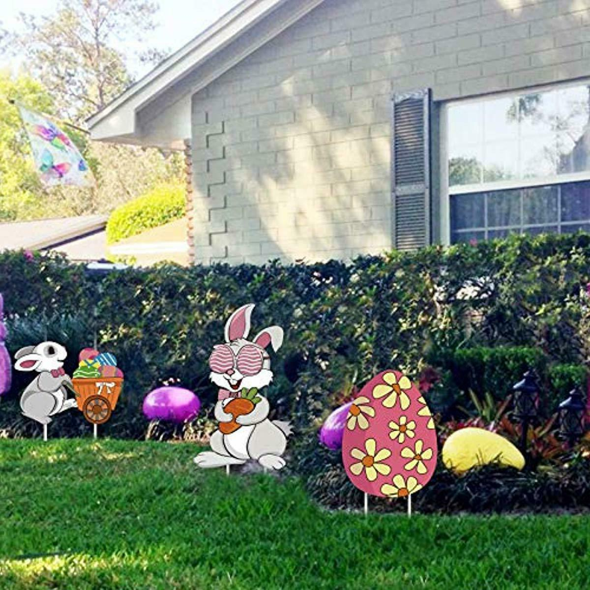 Ivenf Easter 3ct Eggs Corrugate Yard Signs