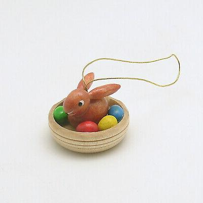 Wood Easter Ornament Easter Bunny Erzgebirge Germany