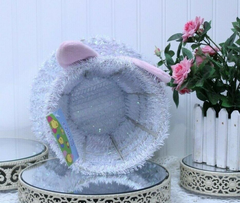 EASTER HAT with Ears Metal Frame Home
