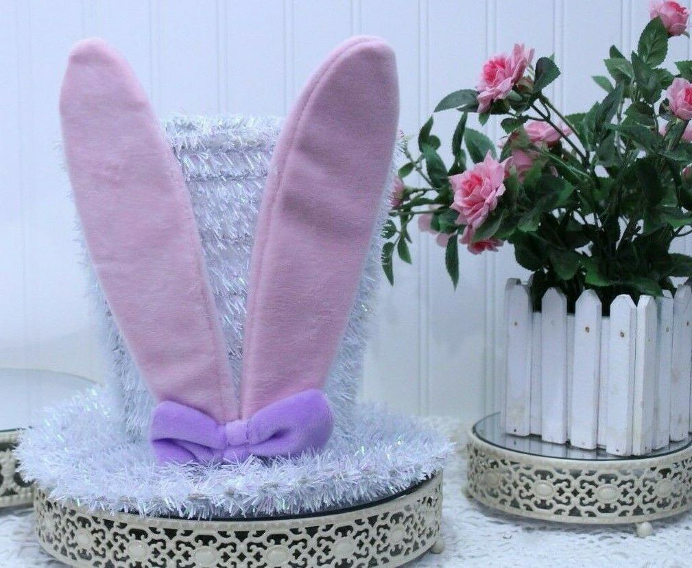 easter hat with bunny ears metal frame