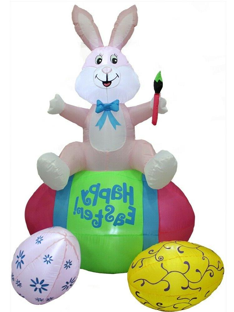 easter decorations outdoor inflatable airblown easter bunny