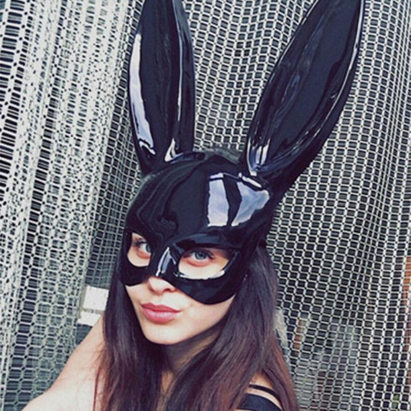 Easter Party Rabbit Bunny Ears Mask Cosplay Costume Masquera