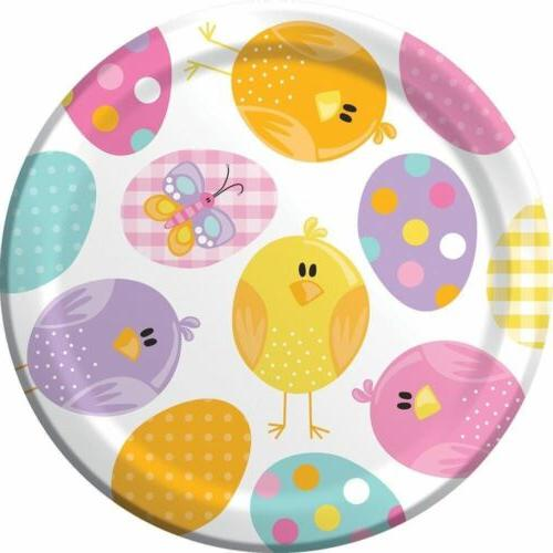 "Easter Picnic 8 Ct 7"" Dessert Plates Spring Party Bunny Chic"