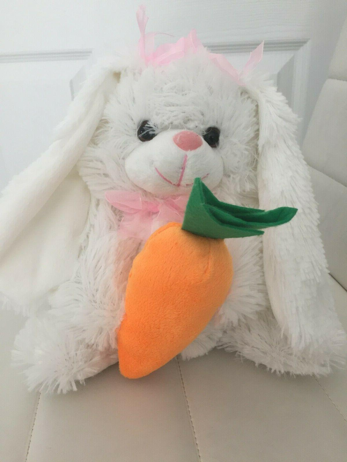 easter plush bunny white stuffed soft toy