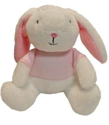 easter plush miniature super soft bunny white