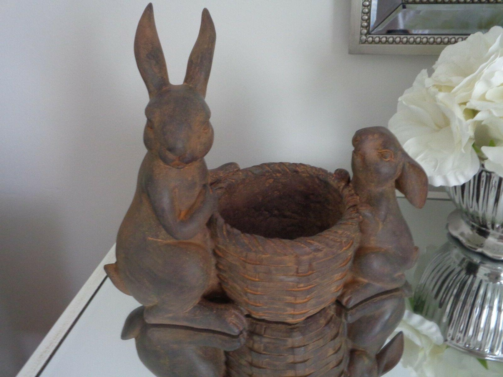 EASTER SPRING Faux Bunny Dish