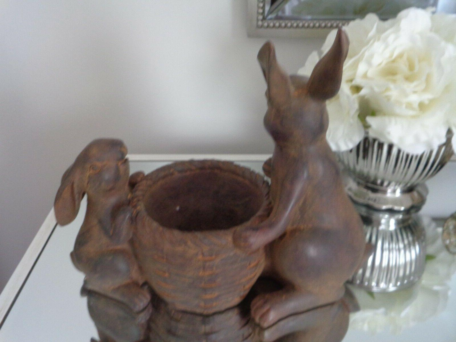 EASTER SPRING Faux Bunny Dish Bowl