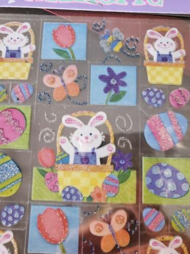 Amscan Stickers Sheets Acid Easter Bunny Easter Stickers