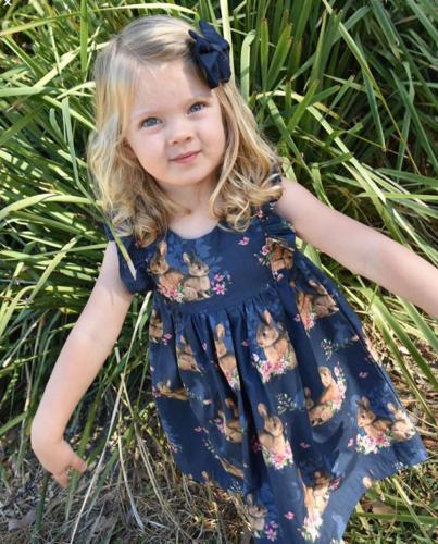 US Girl Bunny Dress Floral Casual Sundress