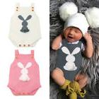 Easter USA Kid Baby Boy Girl Bunny Knitting Wool Romper Body