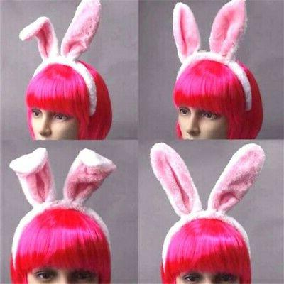 5 Colors Easter Women Girl Long Bunny Ears Headband Tail Cos