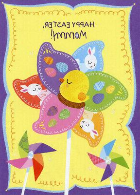 Eggs, Duckling and Bunny Pinwheel: Mommy Designer Greetings