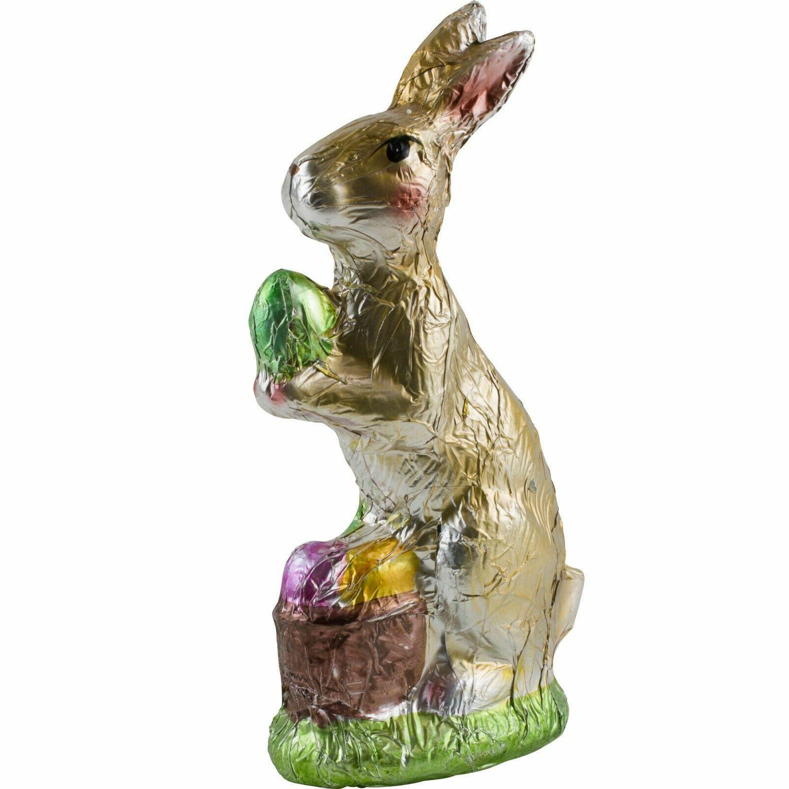 faux chocolate foil bunny rabbit standing figure