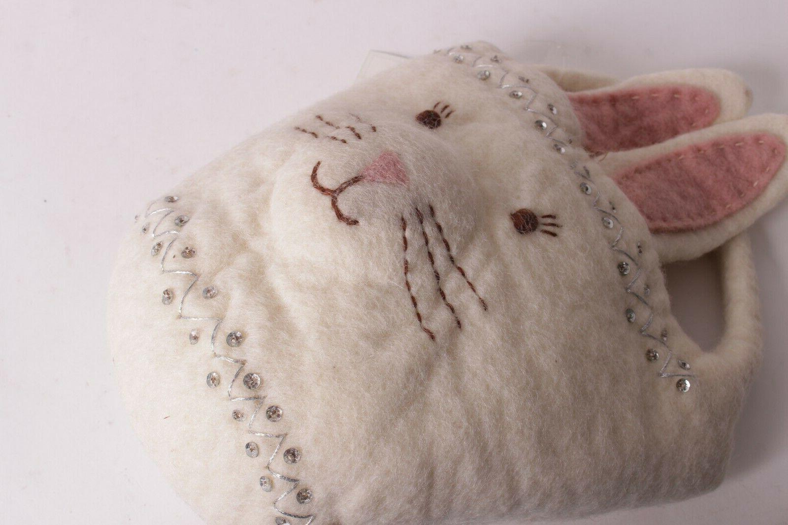 Pottery Barn Kids Felted Wool Bunny Easter Basket