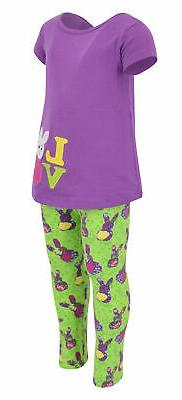 Girls Easter Bunny 2 Piece Outfit 7 Toddler Clothes