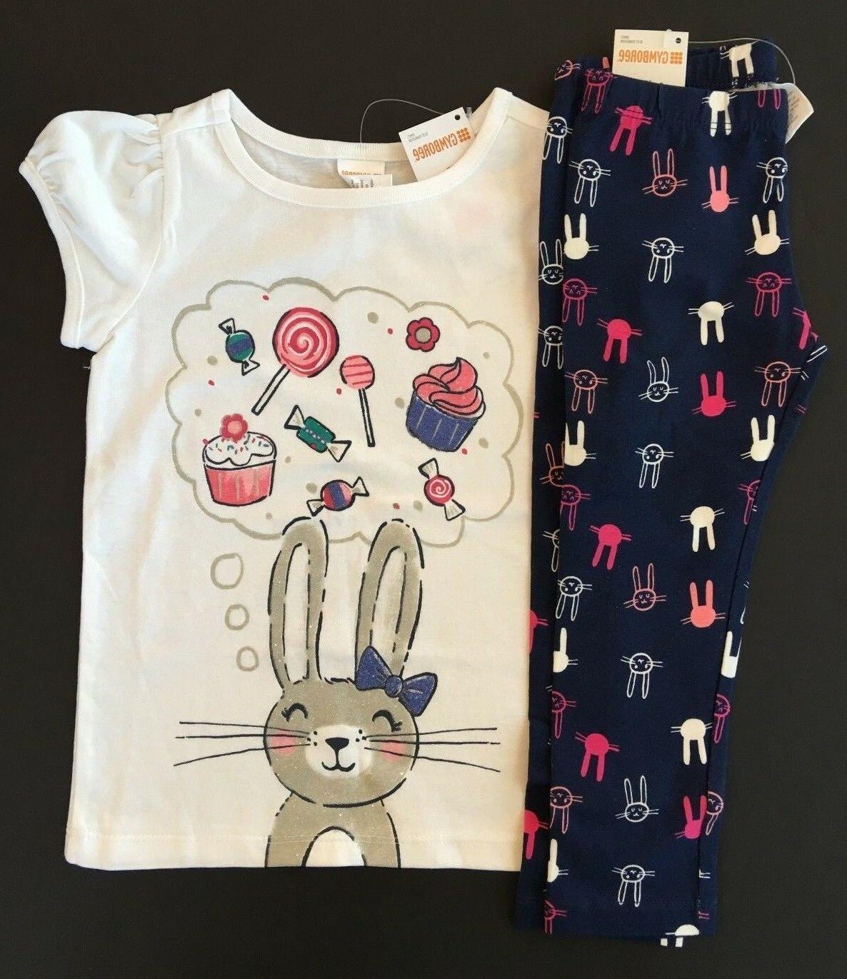 girls sweet easter bunny tee and leggings