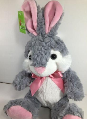 Gray & Pink Rabbit Animal NEW Super Easter