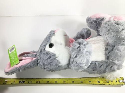 "Gray Bunny Rabbit Plush 13"" Animal NEW Super Easter"