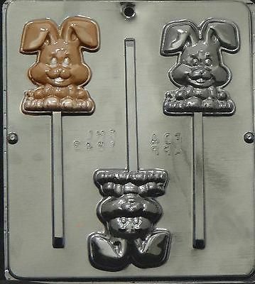 Happy Easter Bunny Lollipop Chocolate Candy Mold Easter 1843